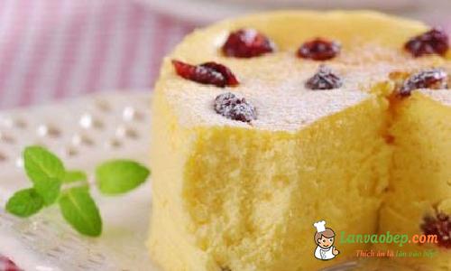 Cách làm bánh bông lan bơ nho