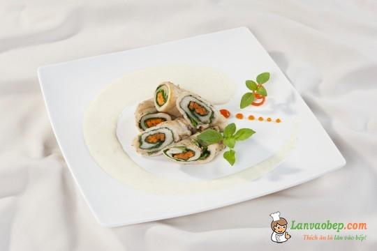 Gà cuộn cải bó xôi đút lò thơm ngon, bổ dưỡng