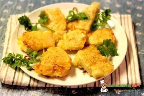 Món cá tẩm bột rán thơm ngon giòn rụm