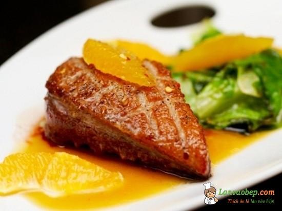 Các món từ vịt - Vịt sốt cam
