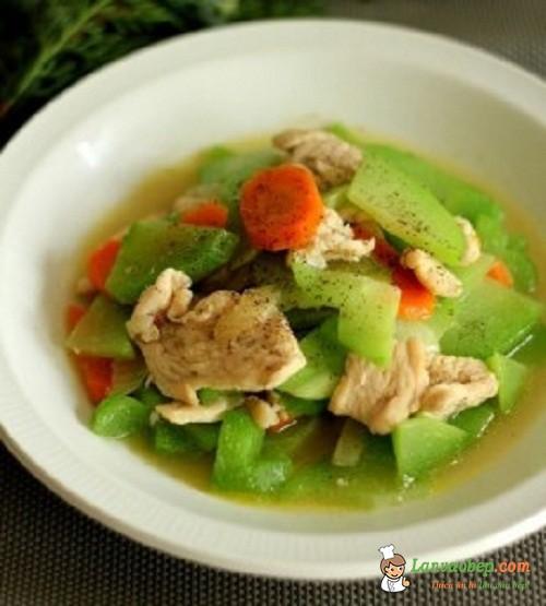 Su su xào thịt gà, món ăn đơn giản mà ngon