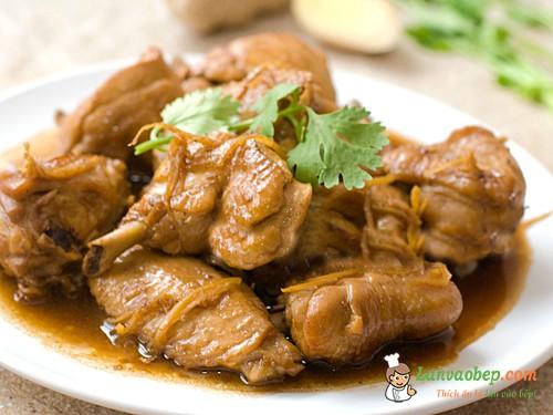 Món thịt gà kho gừng ngon cơm đậm vị