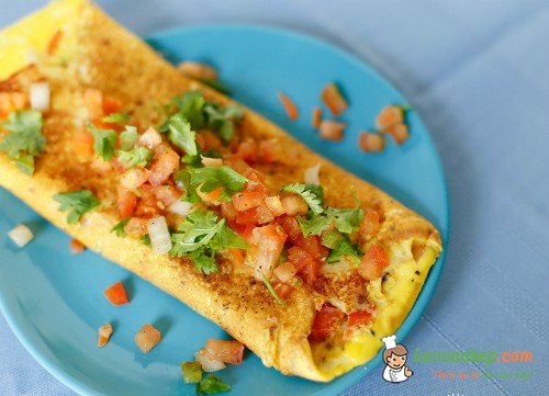 Trứng rán rau củ đủ chất cho bé yêu