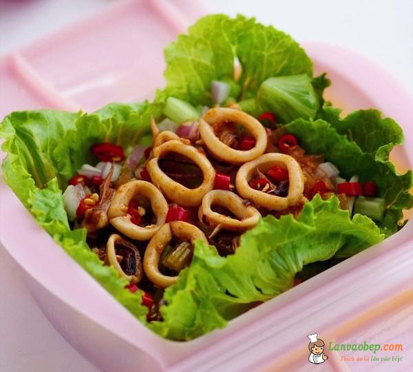 Mực hấp kiểu Thái, món mặn ngon cơm