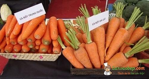 Cách chọn cà rốt ngon tránh mua phải cà rốt Trung Quốc