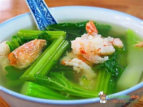 Canh cải nấu tôm, món ăn chữa yếu sinh lý hiệu quả