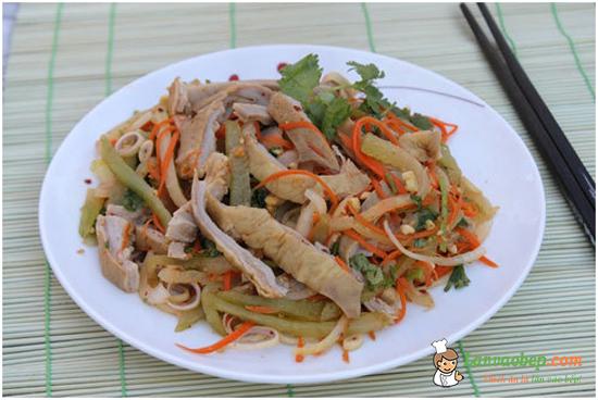 Dạ dày trộn, món ăn chống ngán sau Tết