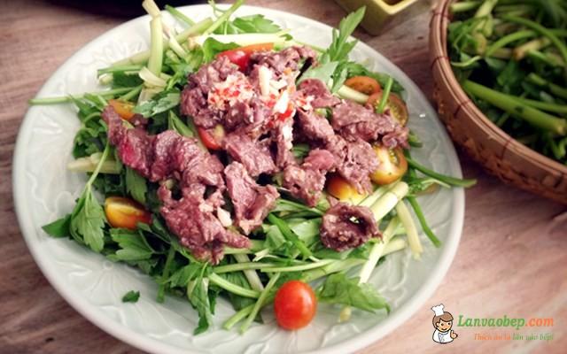 Cách làm món Gỏi rau cần thịt bò tươi ngon