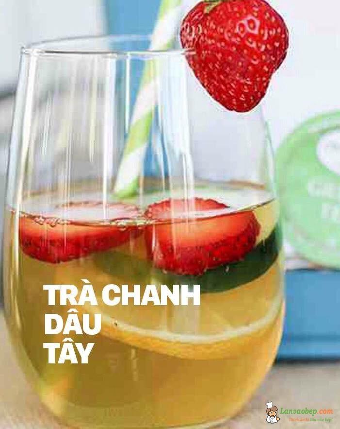 Cách làm trà chanh dâu tây giải nhiệt mùa hè