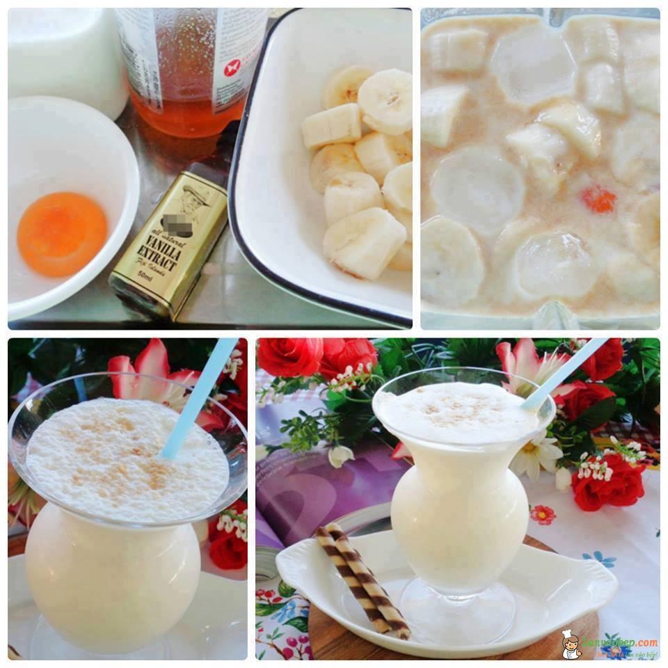 Sinh tố chuối trứng thơm ngon, bổ dưỡng