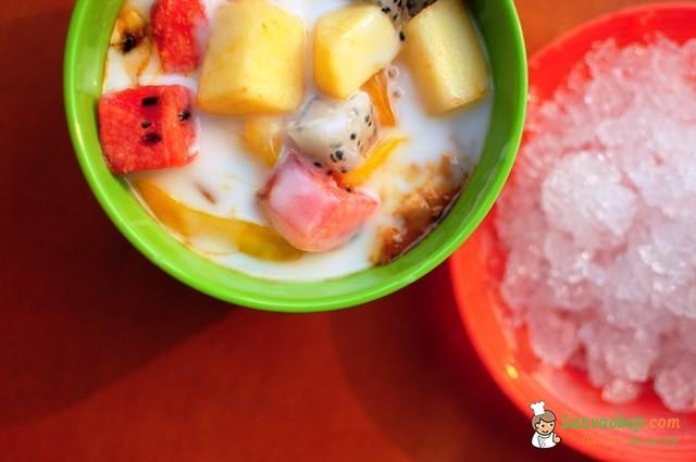 Sữa chua hoa quả dầm giải nhiệt mùa hè